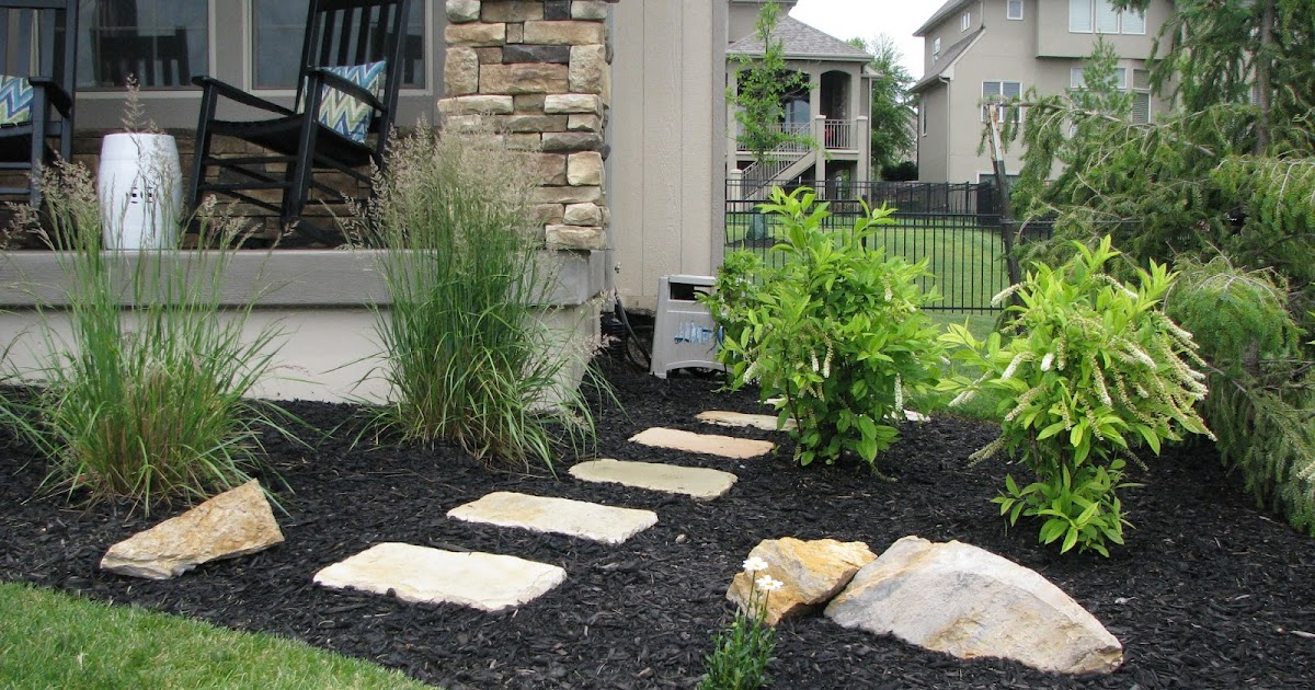 Landscaping With Mulch And Stone : Life love larson laying stepping stones