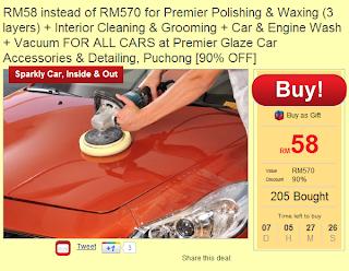 promosi kilat kereta raya,milkadeal polish kereta,promosi cuci kereta murah
