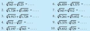 Soal Matematika Sd Kelas 6 Operasi Hitung Bilangan Pangkat Tiga Free Buku
