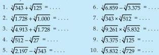 Soal Matematika SD Kelas 6 - Operasi Hitung Bilangan Pangkat Tiga
