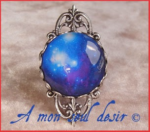 Bague Galaxie Nébuleuse astre étoile cosmos bijou Galaxy Nebula star space ring jewel
