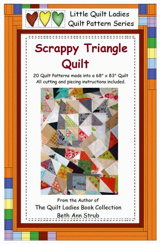Scrapppy Tiiangle Quilt Pattern from The Quilt Ladies Store