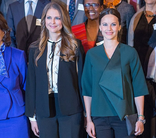 Princess Madeleine of Sweden and Princess Sofia of Sweden attended the Global Child forum at the Royal Palace