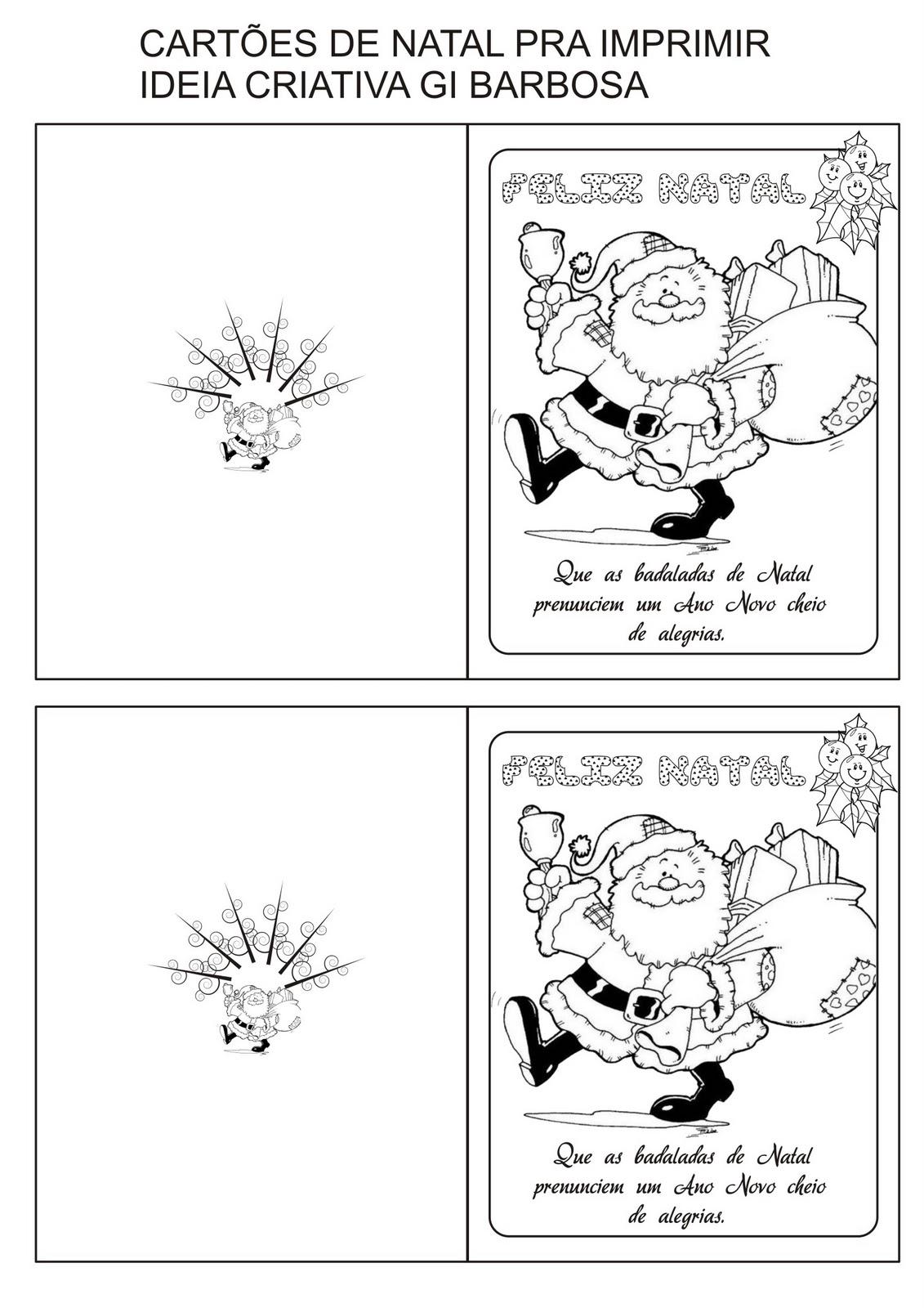 Muito Cartões de Natal com Frase pra Colorir e Imprimir | Ideia Criativa  OW58
