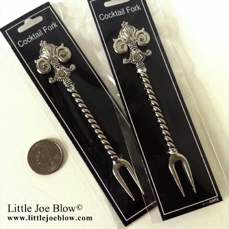 Fleur De Lis Cocktail Forks sold by Little Joe Blow photo 4