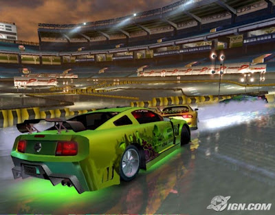 green car during gameplay