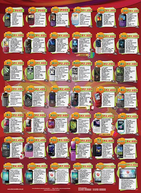 Cherry Mobile Phones Price List