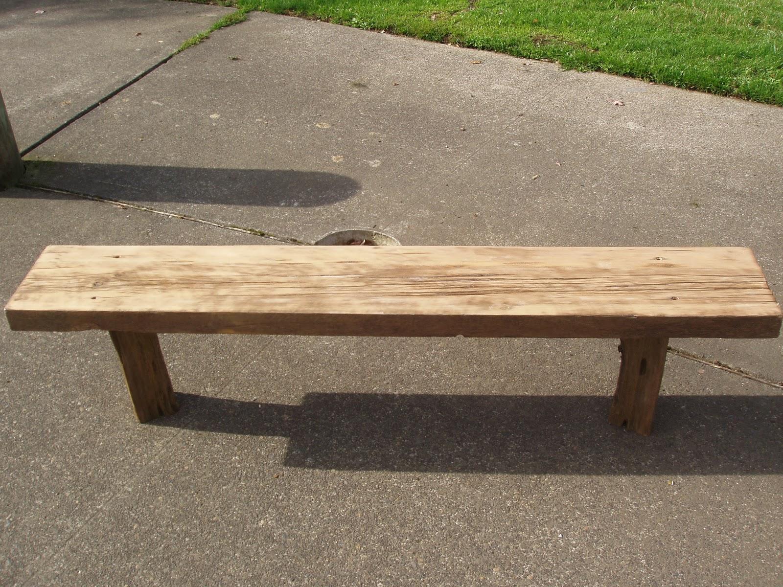 Driftedge Woodworking Driftwood Douglas Fir Bench With Pacific Coast Red Cedar Legs Sold