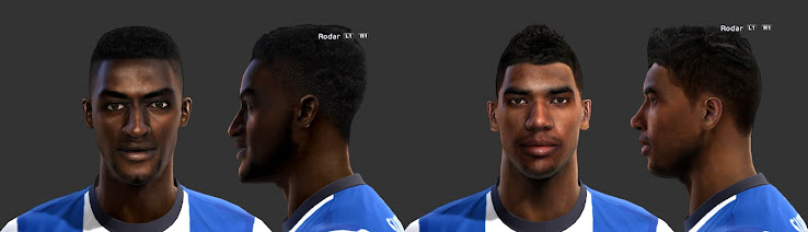 PES 2013 Alex Sandro and Jackson Martinez Faces by Yury and tbvsac