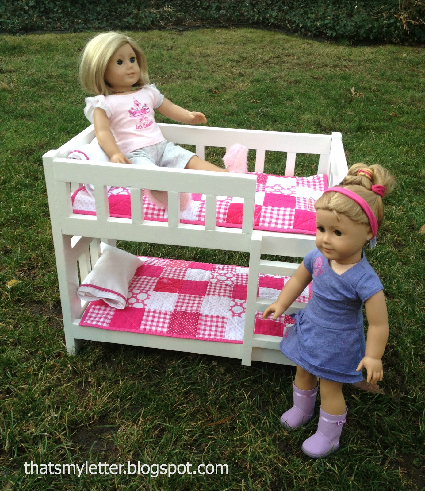 that 39 s my letter diy camp bunk bed for dolls. Black Bedroom Furniture Sets. Home Design Ideas