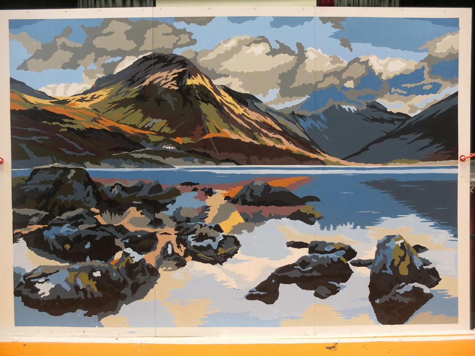 yewbarrow painting by numbers lake district bbc cumbria