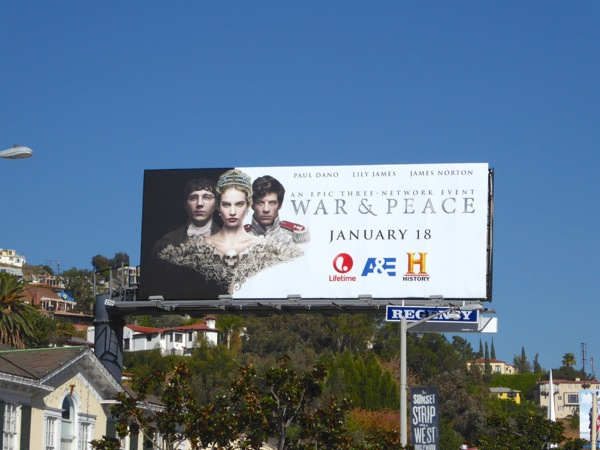 War and Peace miniseries billboard