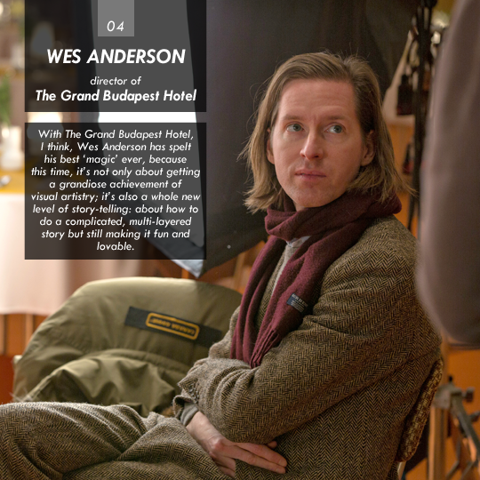 Wes Anderson (The Grand Budapest Hotel)