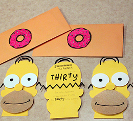How to Throw A Last Minute Party DIY Invitations | The Simpsons | www.blackandwhiteobsession.com