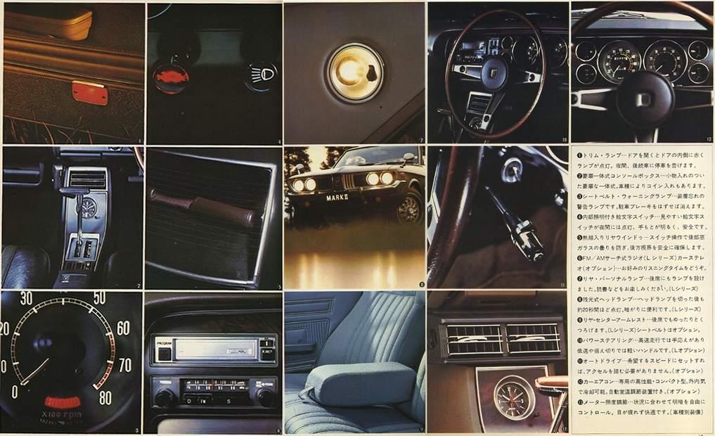 Toyota Corona Mark II, X10, X20, wnętrze, wyposażenie, stare japońskie auto, トヨペット