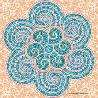 Spiral Dot Mandala
