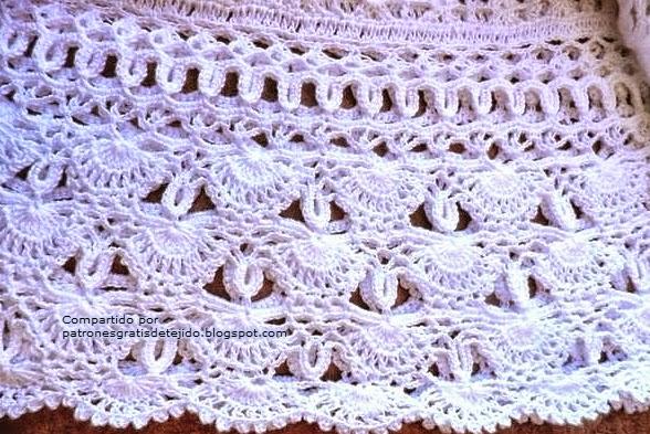 Nuevo punto crochet abanicos