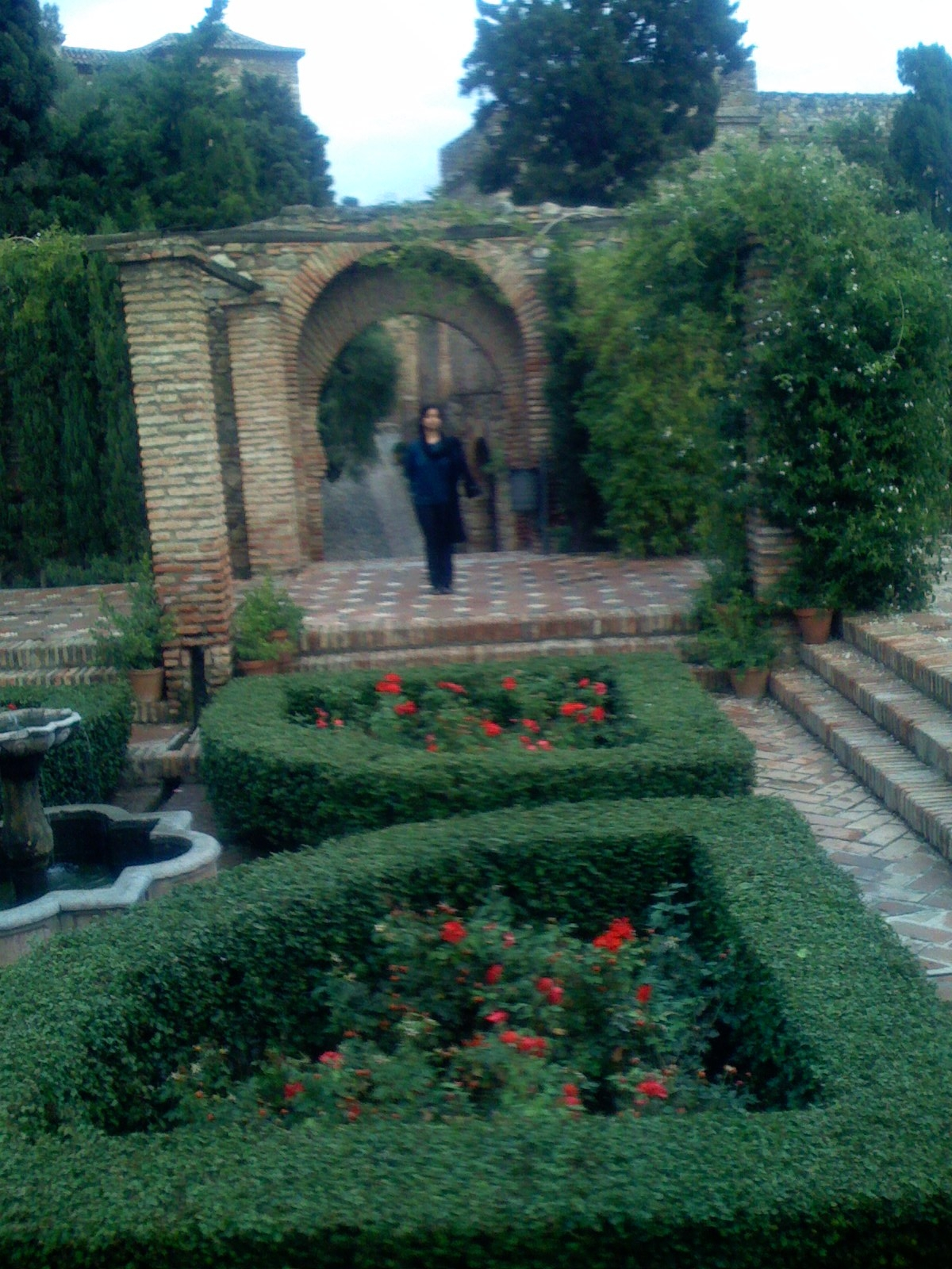Gardens Inside Alcazaba in Malaga, Spain