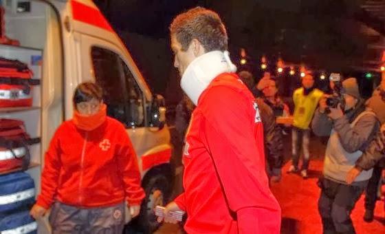 فيديو و صور الاصطدام المروع بين رونالدو و لاعب اتلتيكو مدريد