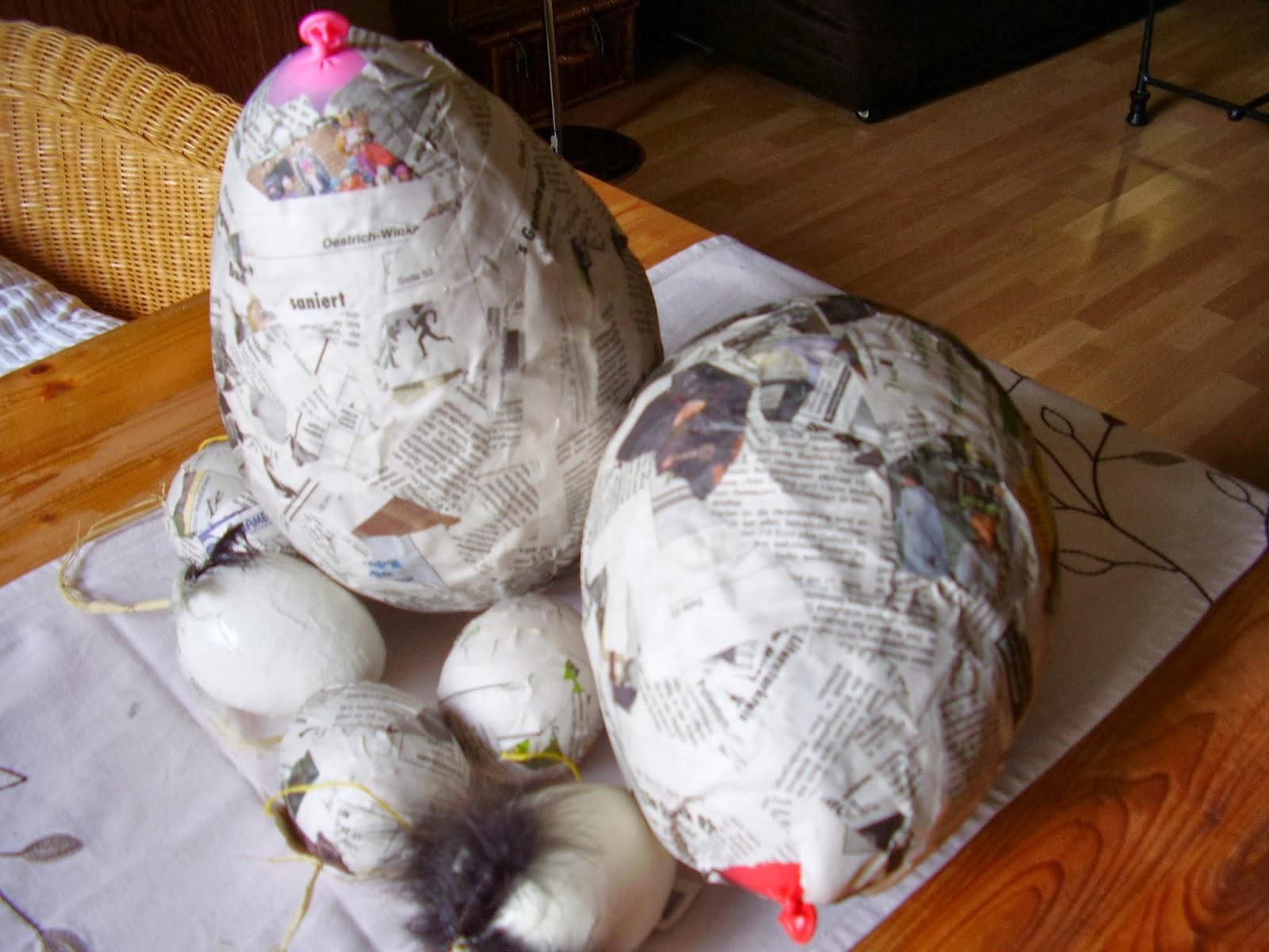 kreativ im rheingau osterbasteln pappmach eier zum bemalen herstellen. Black Bedroom Furniture Sets. Home Design Ideas