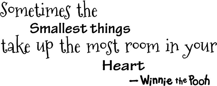 Sometimes the smallest things take up the most room in your heart. Winnie the Pooh