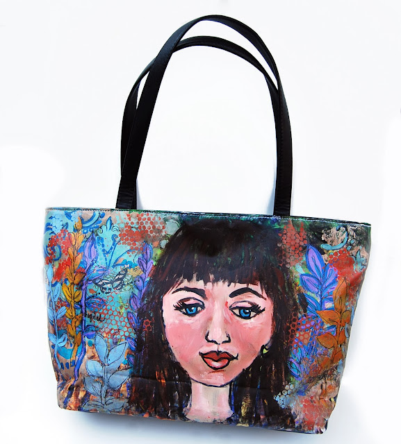 hand painted purses