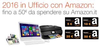 2016 in Ufficio con Amazon: Buoni Sconto fino a 50 euro