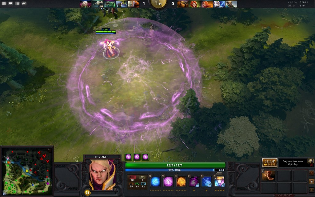 dota 2 kael the invoker perview gameplay dota 2 throne
