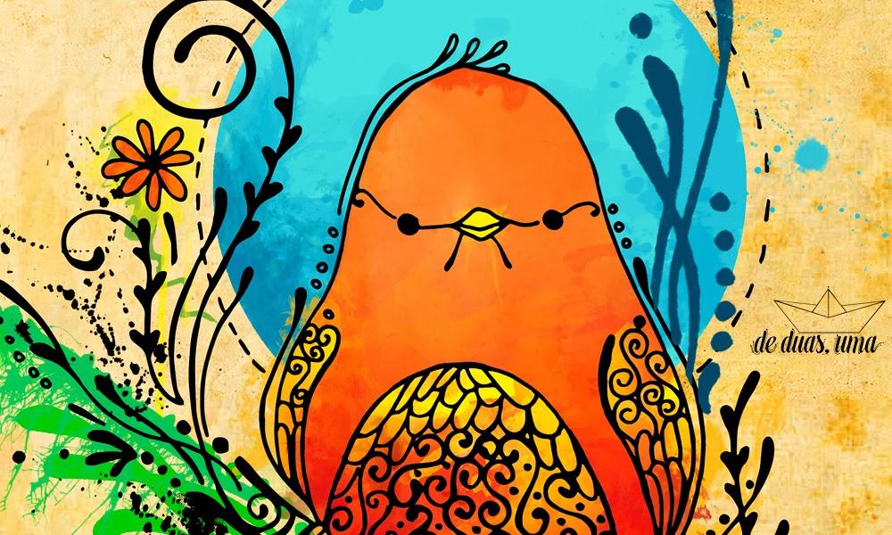 bird doodling illustration de duas uma