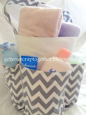 Summer Chevron Beach Tote Bag by GYCT