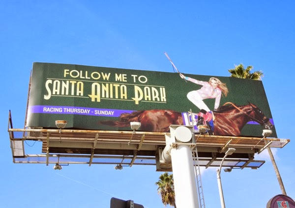 Chantal Sutherland Santa Anita Park billboard Nov13
