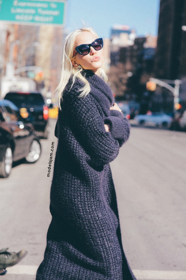 Sasha Luss in New York