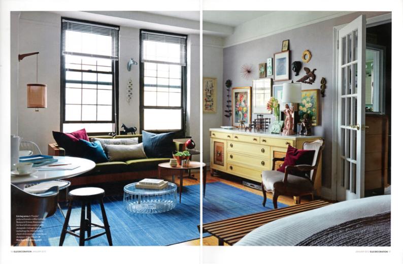 ELLE Decoration interior design inspiration blue rug