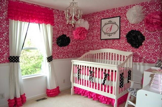 gambar tempat tidur bayi perempuan