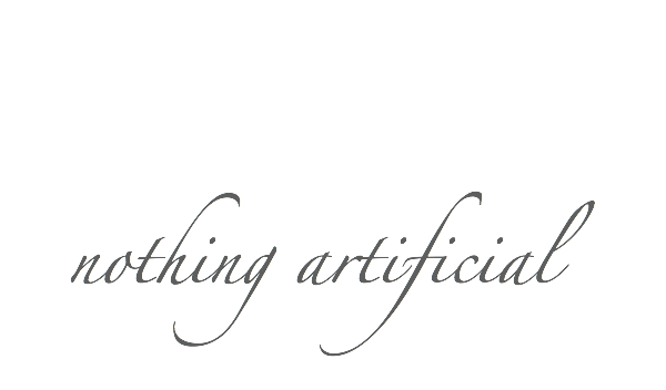 nothing artificial blog