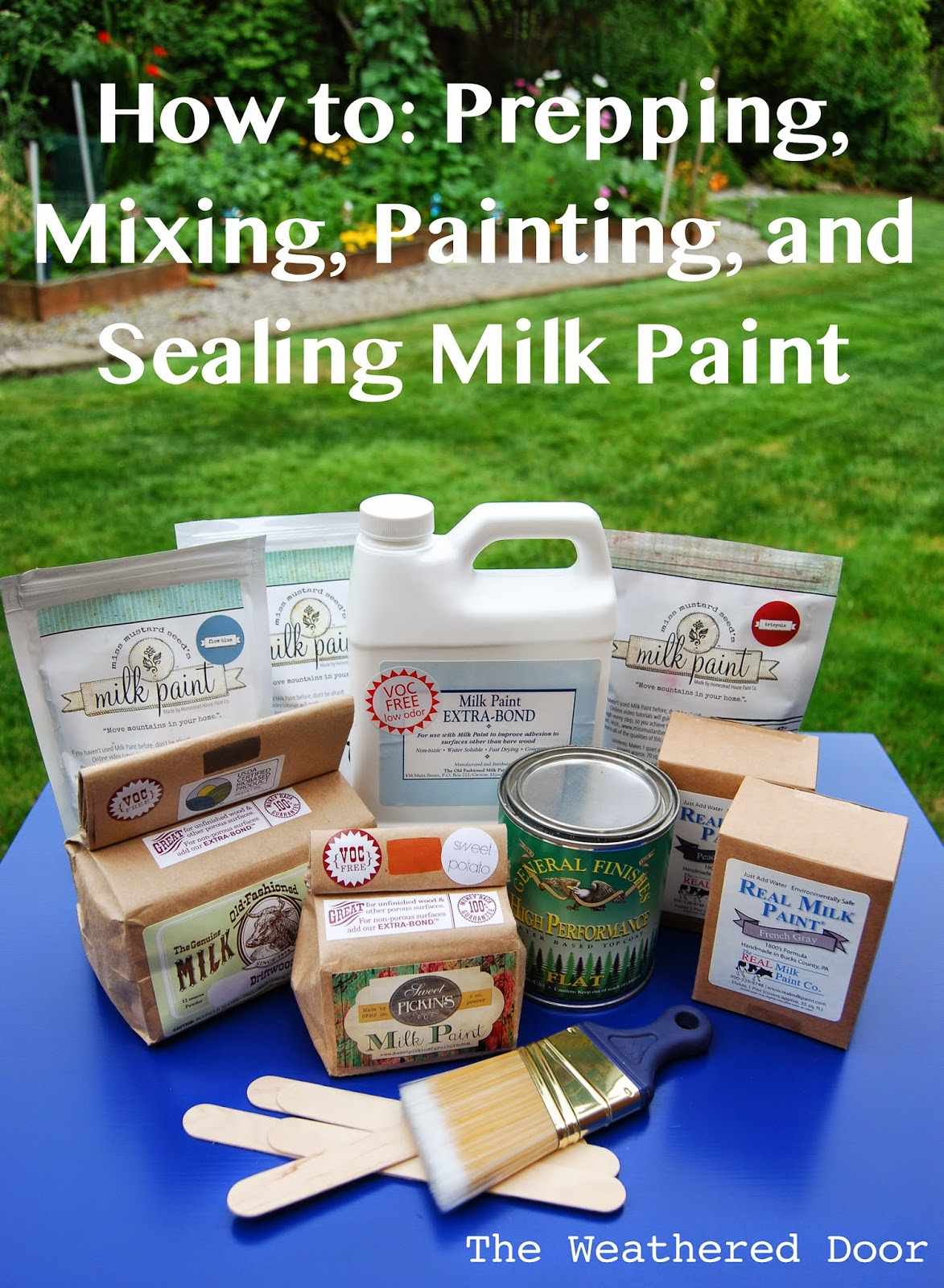 Sealing Old Fashioned Milk Paint