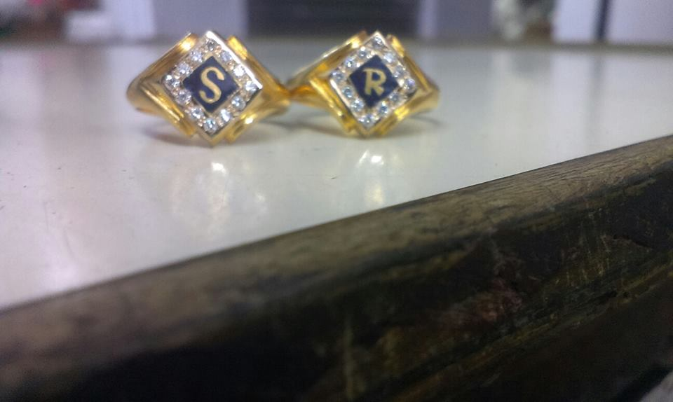 916 jewellery Rings letter gold rings Collection