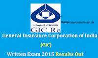 GIC Result 2015