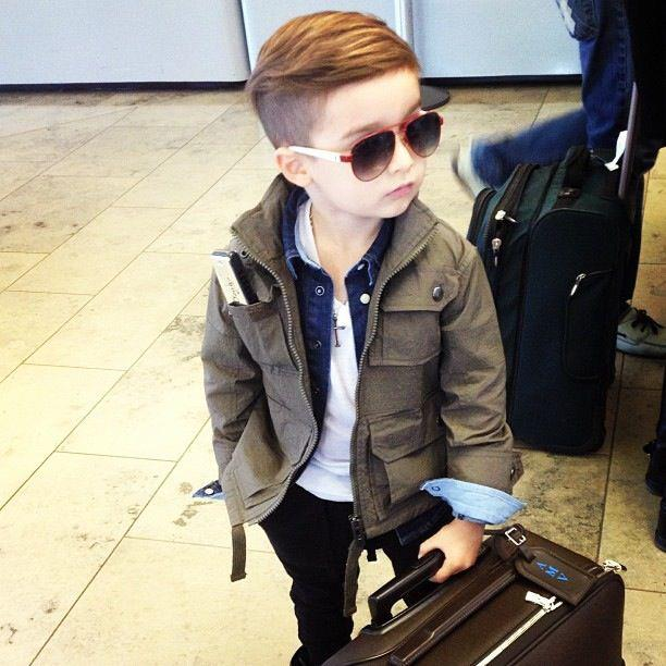 Cute little stylish boy