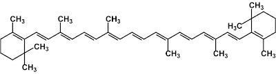 estructura beta-caroteno