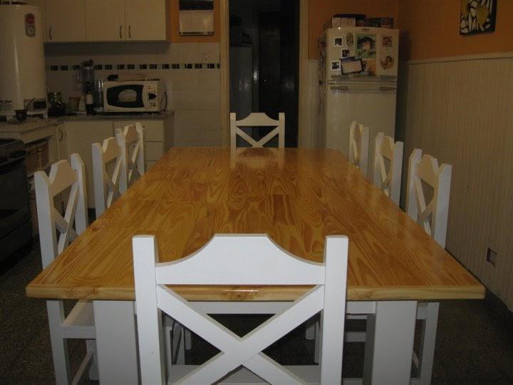 Muebles a medida tandil mesa de pino multilaminado for Muebles de pino natural