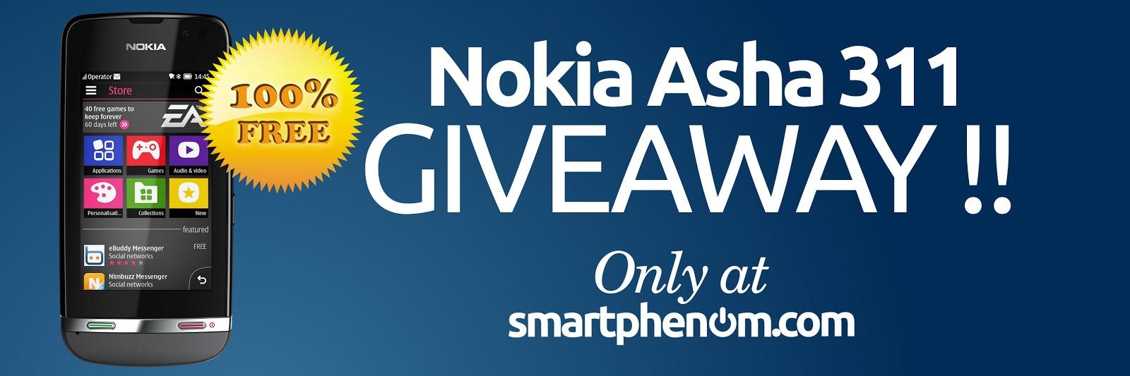 Nokia Asha 311 Giveaway