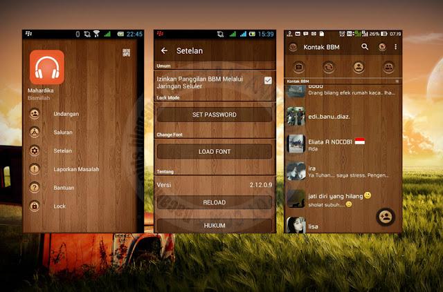 download BBM Mod Tema DarkWood Terbaru Versi 2.12.0.9 Apk
