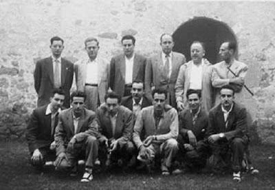 Ajedrecistas participantes en el II Torneo Nacional de La Pobla de Lille 1956