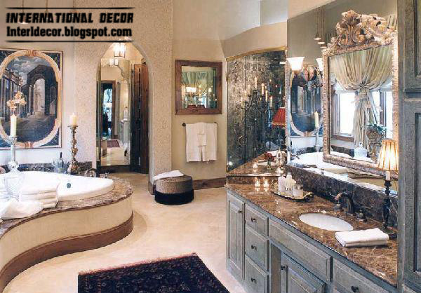 Luxurious Bathroom Accessories And Furniture In Royal Design