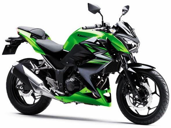Motor Kawasaki Z250 Terbaru 2014 Hijau