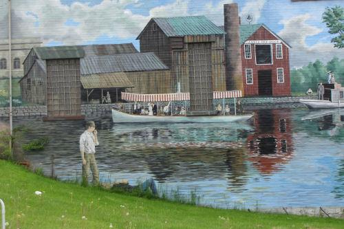 Erie Canal mural