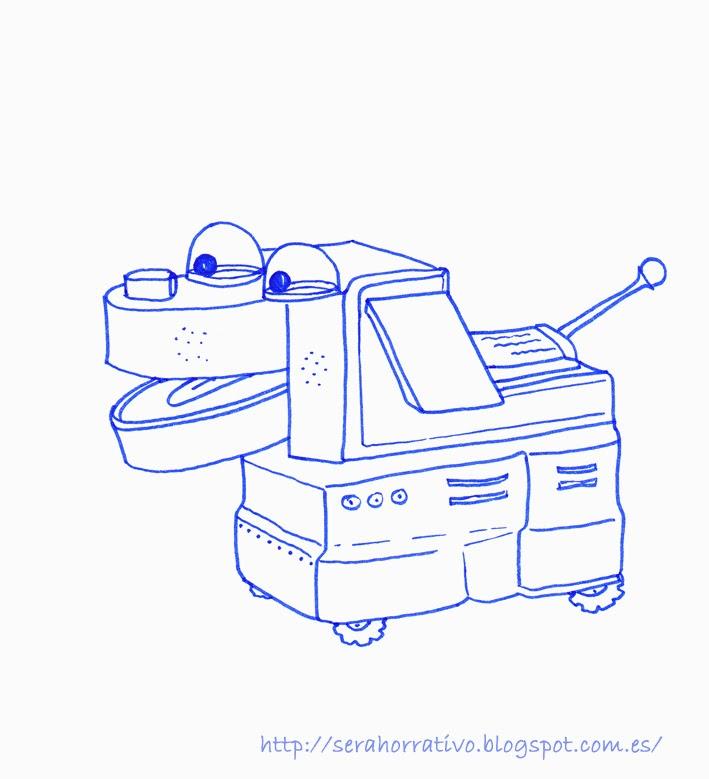 lámina colorear perro robot, dibujo colorear, gratis