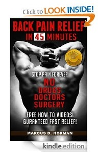 Free eBook Feature: Back Pain Relief in 45 Minutes by Marcus D. Norman