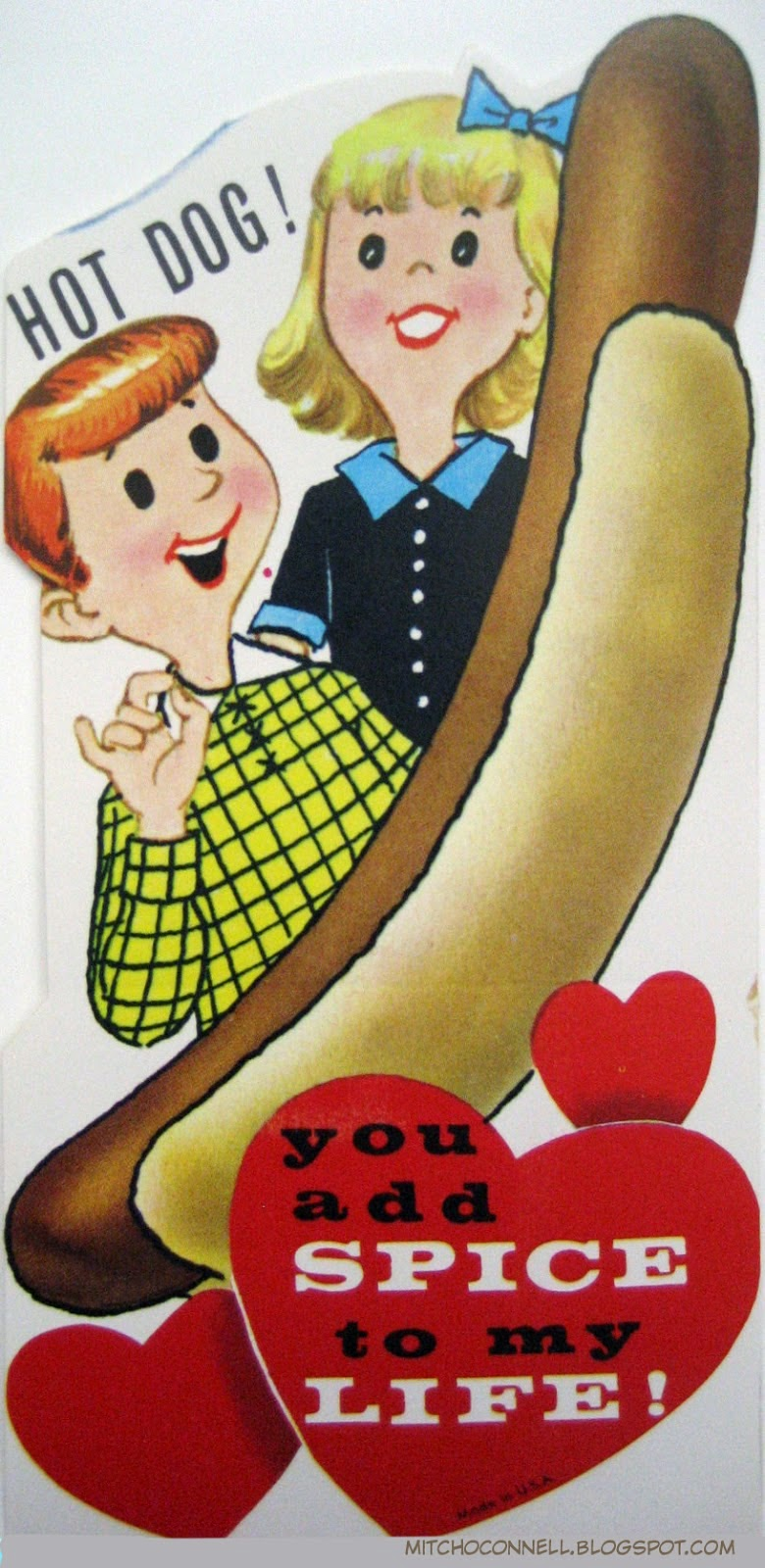 Vintage Valentines with a meat theme – Vintage Valentine Cards